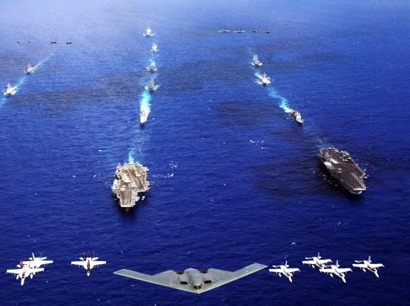 Joint operations in the Pacific, photo by U.S. Navy/Chief Photographer's Mate Todd P. Cichonowicz