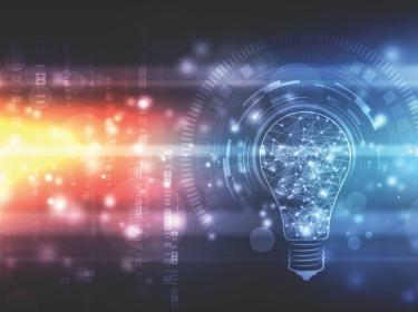 A lightbulb depicting innovation and technology, photo by Blackboard/Adobe Stock