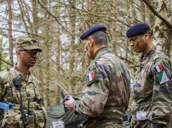 U.S. and French soldiers at the Joint Multinational Readiness Center in Hohenfels, Germany, March 2017, photo by U.S. Army