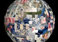 Earth partially covered by Chinese Yuan, image by Stephen Finn/Adobe Stock