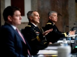 A hearing to examine U.S. Special Operations Command and U.S. Cyber Command in review of the Defense Authorization Request for fiscal year 2022 and the Future Years Defense Program, on Capitol Hill, March 25, 2021, photo by Andrew Harnik/Pool/Sipa USA