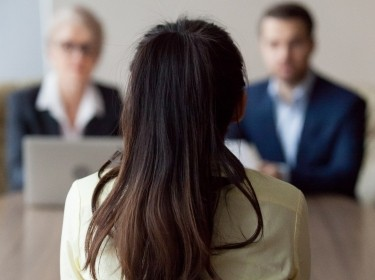 Woman interviewing for a job, photo by fizkes/Getty Images