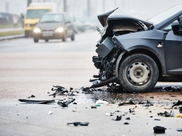 A car crash in an urban area, photo by kadmy/Getty Images