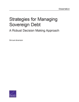 Cover: Strategies for Managing Sovereign Debt