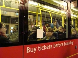crowded London bus