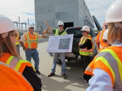 U.S. Army Corps of Engineer contractor explains to FEMA Future Leaders how the levee system in New Orleans works