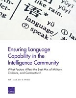 Cover: Ensuring Language Capability in the Intelligence Community
