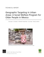 Cover: Geographic Targeting in Urban Areas