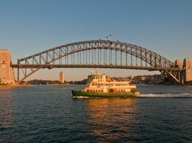 Sydney harbor bridge and ferry