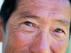 eyes of an elderly man