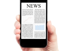 smartphone with news