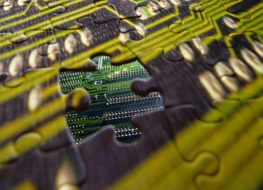 motherboard jigsaw puzzle piece