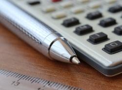 pen, calculator, ruler