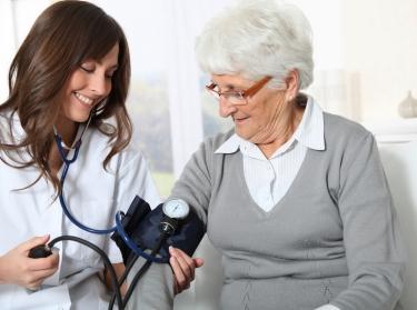 nurse older woman patient