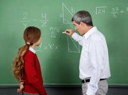 math teacher with student