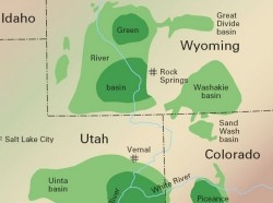 Utah and Colorado oil shale deposits