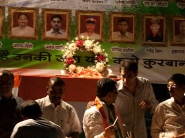 Ceremony for the martyrs of the 2008 Mumbai terrorist attack