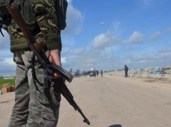 Members of al Qaeda's Nusra Front man a checkpoint in Idlib, Syria, March 30, 2015