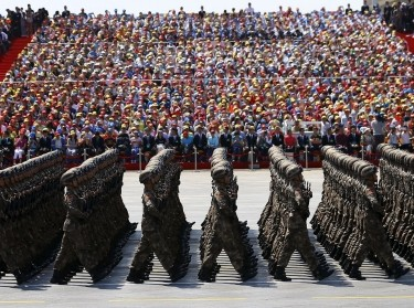 Soldiers of China's People's Liberation Army (PLA) march during the military parade to mark the 70th anniversary of the end of WWII, in Beijing, China, September 3, 2015