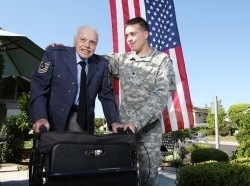Grandson who served in Iraq helps his grandfather, who served in WWII