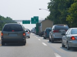 Traffic Jam Stopped Cars Pennsylvania Turnpike Exit 358 Bristol Levittown