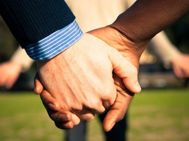 holding hands in a circle
