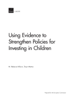 Cover: Using Evidence to Strengthen Policies for Investing in Children