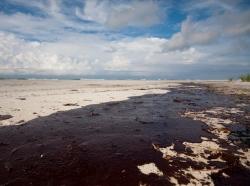 Alabama beach after the Gulf oil spill
