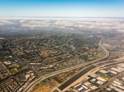 The Santa Ana River in Anaheim in Orange County, photo by Derek Neumann / Getty Images