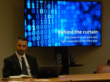 Giacomo Persi Paoli speaks at the UN about the dark web