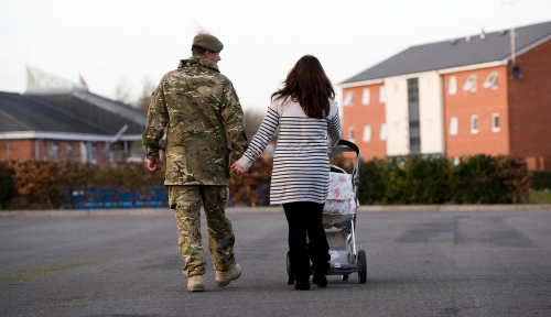 A soldier returned safely from Afghanistan, heads home with his family, photo by Sergeant Ian Forsyth RLC/Crown Copyright OGL