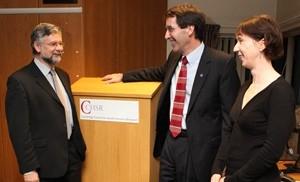 Martin Roland, Art Kellermann, and Ellen Nolte at the CCHSR Lecture