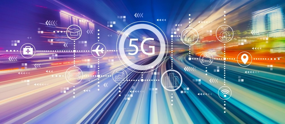 5G network with high speed motion blur, photo illustration by Tierney/Adobe Stock