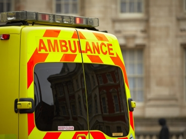Door of emergency ambulance car