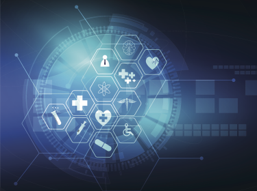 Healthcare icons and medical innovation concept