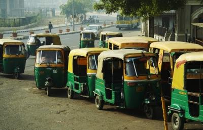 Mototransport (bicycle cars) in New Delhi, India