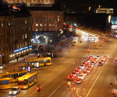 H.C. Andersens Boulevard - January Evening in Copenhagen