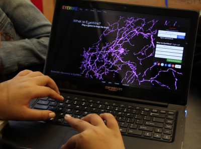Students engage in citizen science by playing the brain-mapping game EyeWire