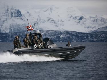 Norwegian Coast rangers sailing outside of Harstad during exercise Cold Response 2020, photo by Emil Wenaas Larsen / Forsvaret (Norwegian Armed Forces)