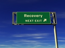 Recovery freeway exit sign