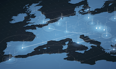 Cyber data map of Europe