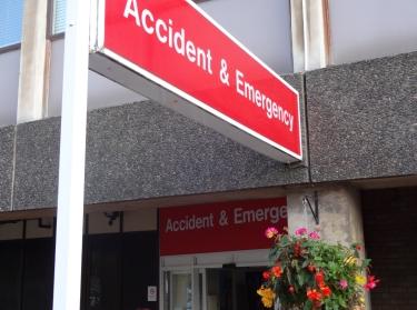 Addenbrooke's Hospital Accident & Emergency department entrance