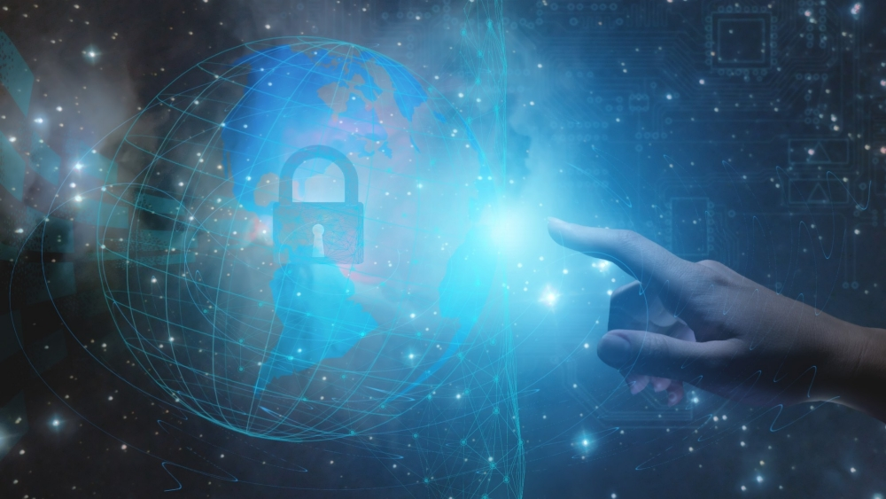 Conceptual representation of the protection and interaction of the personal data of the inhabitants of the planet and industrial data using artificial intelligence and the Internet of things, photo by kosssmosss/Adobe Stock