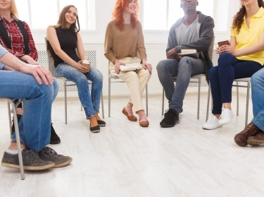 People sitting together in a discussion