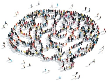 A group of people in the shape of the brain, illustration by tai111/Adobe Stock