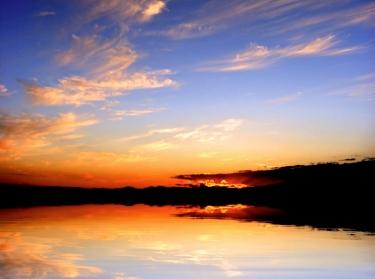 Horizon over the water, sunrise or sunset