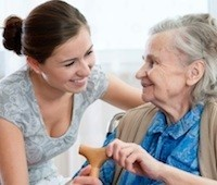 nurse and elderly patient