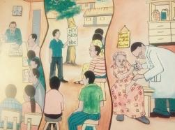 Mural at the Uganda Virus Research Institute, Entebbe