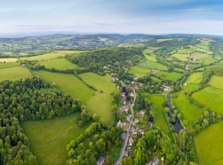 Aerial view of Cotswolds, England