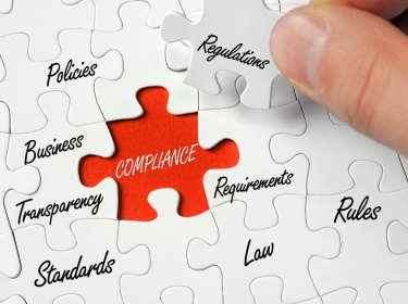 Puzzle with regulation and compliance